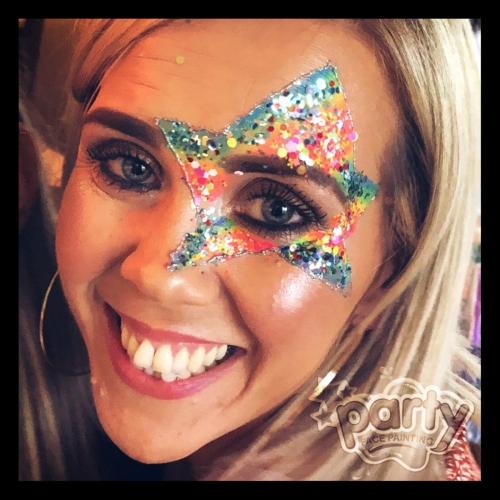 Rainbow glitter star
